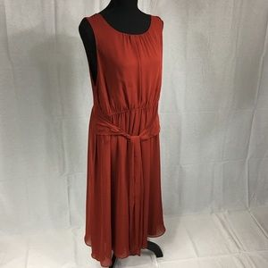 Simply Vera Large rust colored easy care dress